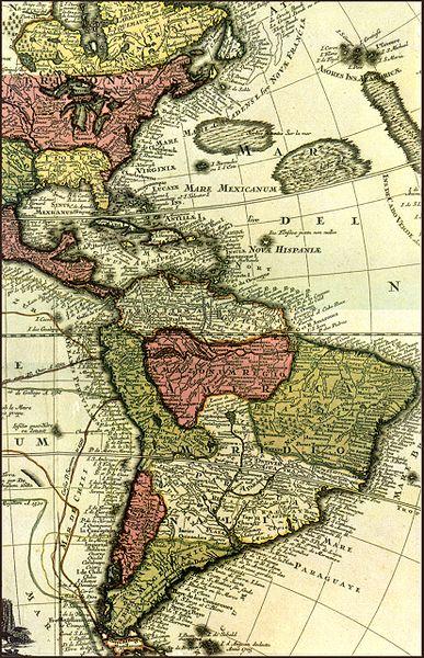 carte caraibes 1700
